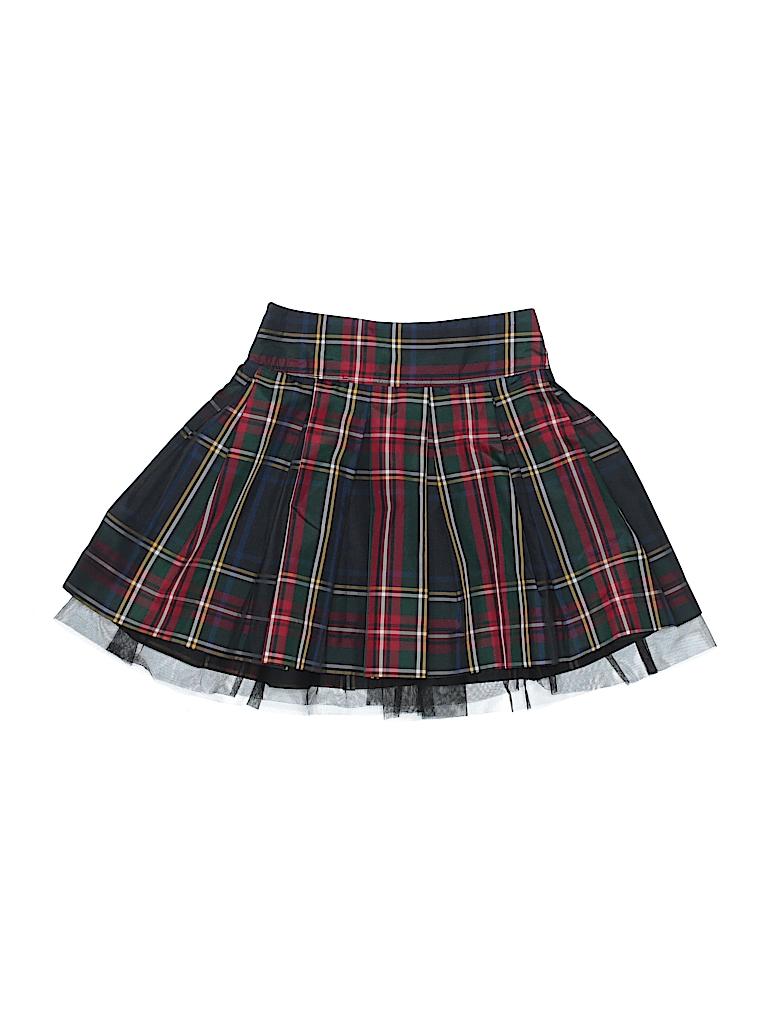 b865ed139a Baby Gap 100% Polyester Plaid Navy Blue Skirt Size 4 - 72% off | thredUP