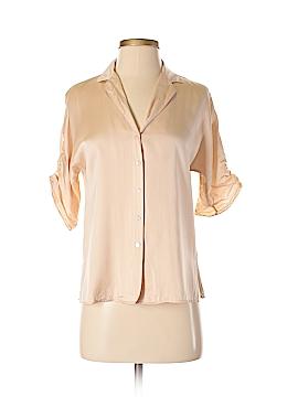 Calvin Klein Short Sleeve Silk Top Size 2