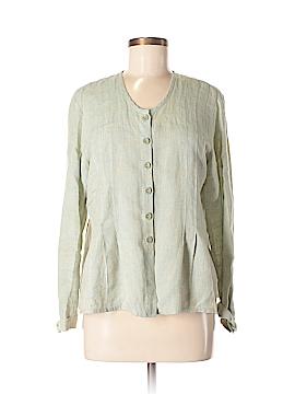 Flax Long Sleeve Button-Down Shirt Size 4 (P)