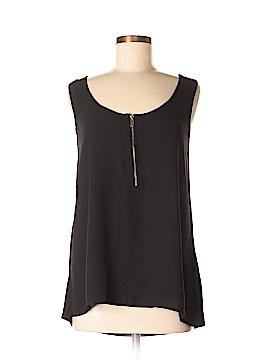 August Silk Sleeveless Button-Down Shirt Size S