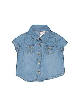 Cat & Jack Short Sleeve Button-Down Shirt Size 0-3 mo