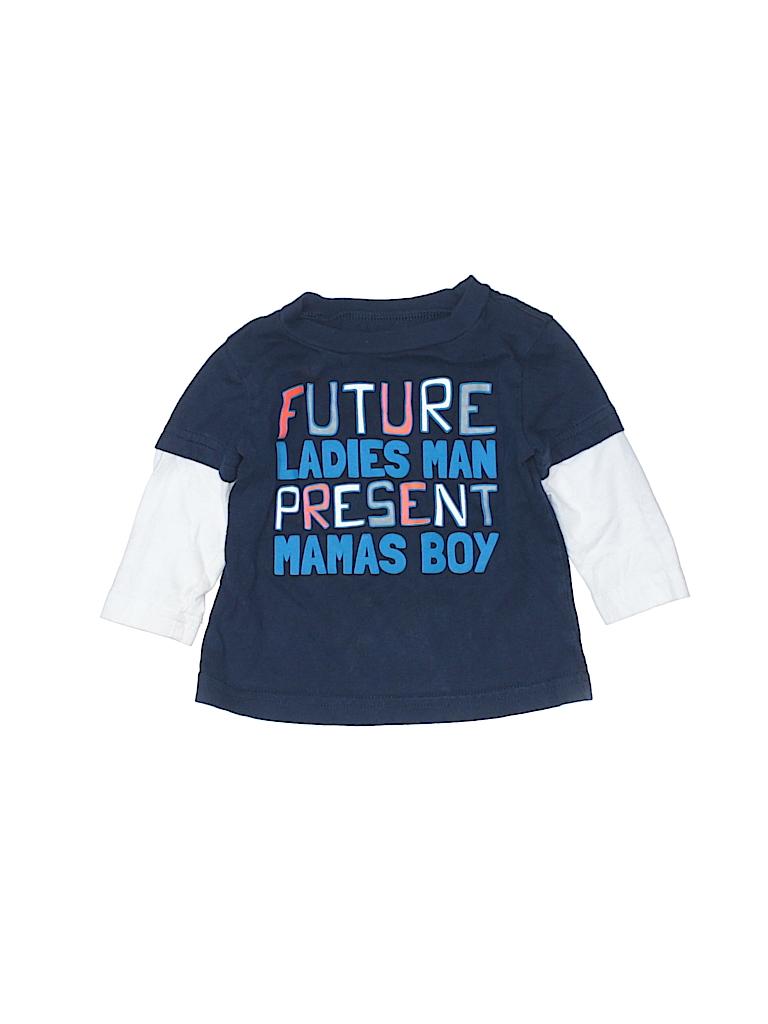 4cf660588262 Okie Dokie 100% Cotton Graphic Dark Blue 3/4 Sleeve T-Shirt Size 6 ...