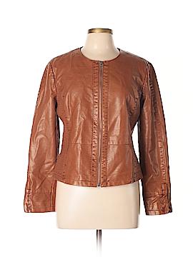 Ann Taylor LOFT Outlet Faux Leather Jacket Size M