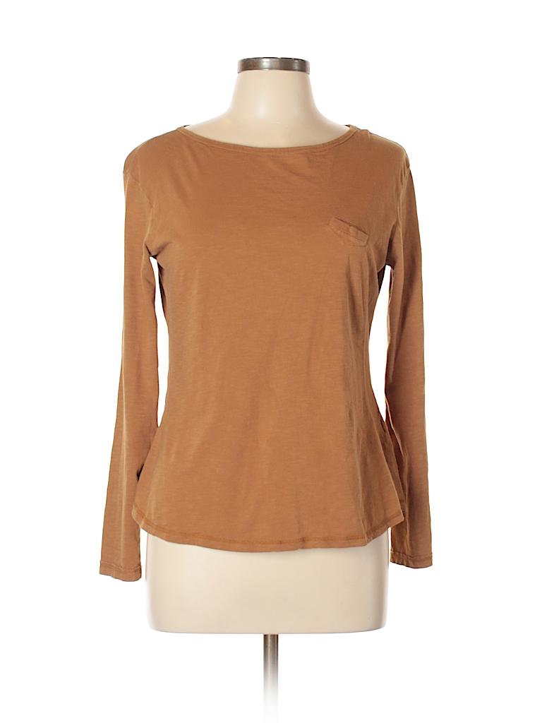 be636aab0d82 Zara Solid Tan Long Sleeve T-Shirt Size XL - 54% off | thredUP