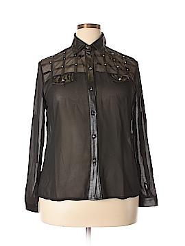 Be Lush Long Sleeve Blouse Size 1X (Plus)