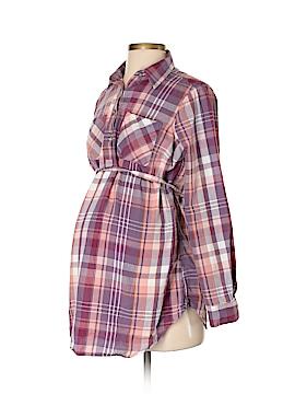 Liz Lange Maternity Long Sleeve Button-Down Shirt Size XS (Maternity)