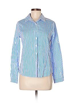 Allegra K Long Sleeve Button-Down Shirt Size XS