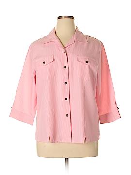 Apparenza 3/4 Sleeve Button-Down Shirt Size XL