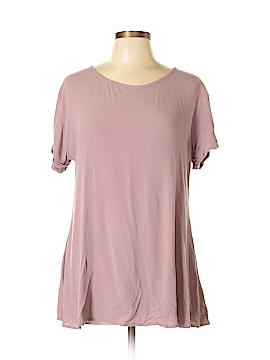 Pink Blush Short Sleeve Blouse Size M