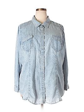 Daniel Rainn Long Sleeve Button-Down Shirt Size 3X (Plus)