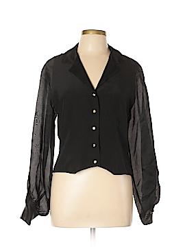 T by Alexander Wang Long Sleeve Silk Top Size 10