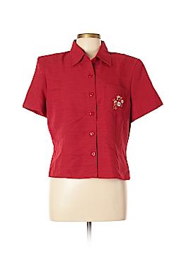 Kathie Lee Short Sleeve Button-Down Shirt Size 14