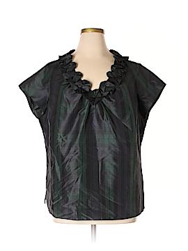Talbots Short Sleeve Silk Top Size 18W (Plus)