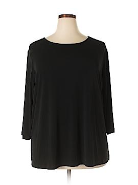 Susan Graver 3/4 Sleeve T-Shirt Size 3X (Plus)