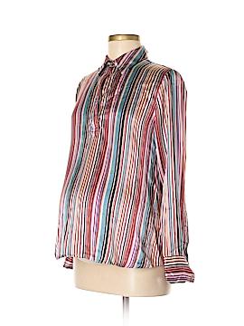 Liz Lange Maternity for Target Long Sleeve Silk Top Size S (Maternity)