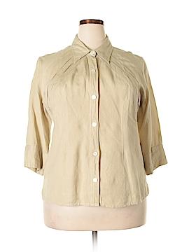 Ashley Stewart 3/4 Sleeve Button-Down Shirt Size 14