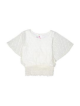 Jenna & Jessie Short Sleeve Blouse Size 4