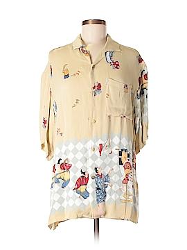 Citron Short Sleeve Button-Down Shirt Size S