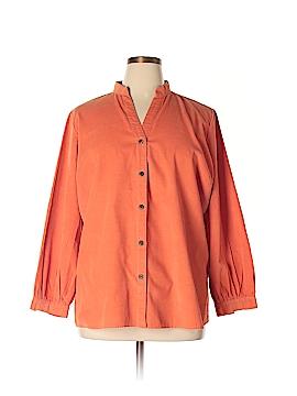 Chadwicks Long Sleeve Button-Down Shirt Size 1X (Plus)