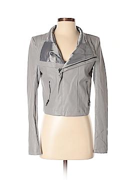Olivaceous Faux Leather Jacket Size S
