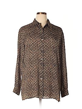 Liz Claiborne Collection Long Sleeve Silk Top Size 14