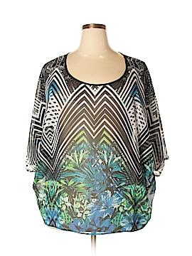 Bisou Bisou Short Sleeve Blouse Size 2X (Plus)