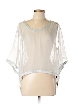 L.A.M.B. 3/4 Sleeve Silk Top Size L