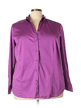 Charter Club Long Sleeve Button-Down Shirt Size 24 (Plus)