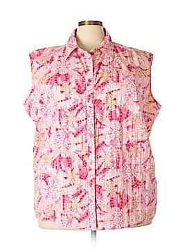White Stag Sleeveless Button-Down Shirt Size 26/28 (Plus)