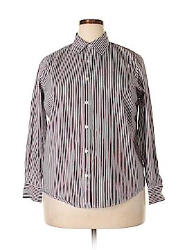 Charter Club Long Sleeve Button-Down Shirt Size 14 (Plus)