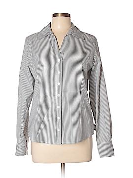 Semantiks Long Sleeve Button-Down Shirt Size L