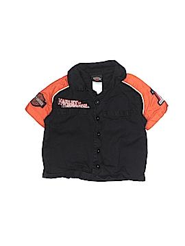 Harley Davidson Short Sleeve Button-Down Shirt Size 18 mo