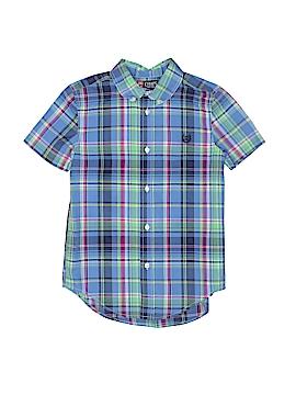 Chaps Short Sleeve Button-Down Shirt Size 7