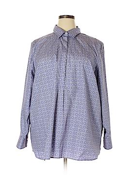 Lands' End Long Sleeve Button-Down Shirt Size 24W (Plus)