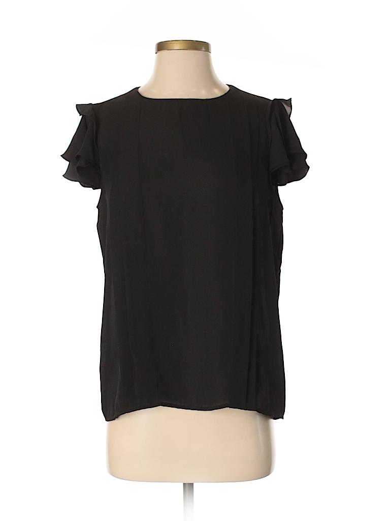 471f2ed292c7cd Philosophy Republic Clothing 100% Polyester Solid Black Short Sleeve ...