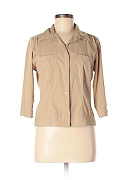 Hillard & Hanson 3/4 Sleeve Button-Down Shirt Size S