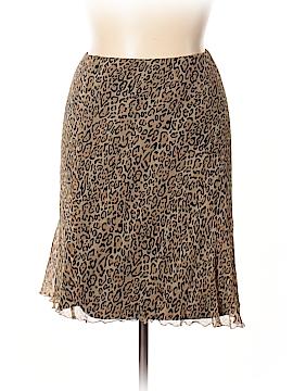 Hillard & Hanson Silk Skirt Size L