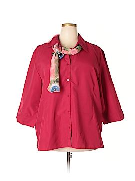 Sara Morgan for Haband 3/4 Sleeve Button-Down Shirt Size 3X (Plus)