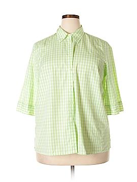 Ralph Lauren 3/4 Sleeve Button-Down Shirt Size 1X (Plus)