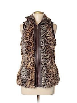 New York Yoki Collection Faux Fur Vest Size S