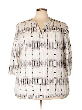 Cynthia Rowley for T.J. Maxx 3/4 Sleeve Blouse Size 2X (Plus)