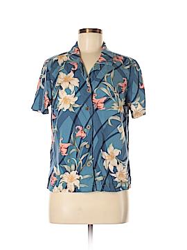 Caribbean Joe Short Sleeve Button-Down Shirt Size M