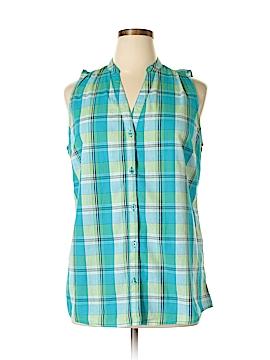 Faded Glory Sleeveless Button-Down Shirt Size XL