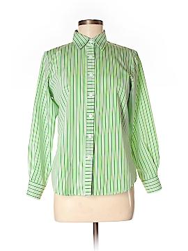 Foxcroft Long Sleeve Button-Down Shirt Size 4 (Petite)