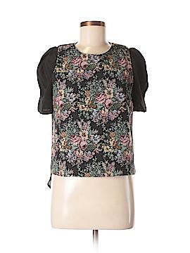 Line & Dot Short Sleeve Blouse Size M