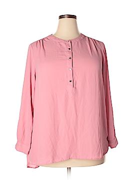 Joan Vass Long Sleeve Blouse Size 1X (Plus)