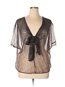 Leon Max Short Sleeve Silk Top Size L