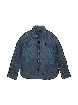 Gap Kids Long Sleeve Button-Down Shirt Size X-Small (Kids)
