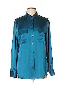 Equipment Long Sleeve Silk Top Size 4X (Plus)