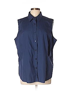Jones New York Signature Sleeveless Button-Down Shirt Size 2X (Plus)